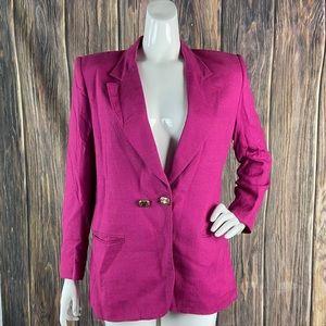 Vintage Christian Dior blazer 8 pink jeweled 80's